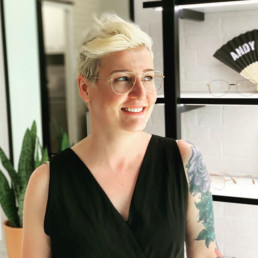 Bethany Thompson frame stylist at Sphere Optometry in Calgary